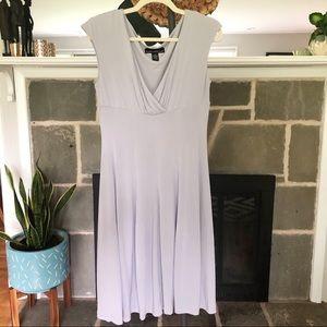 ISABELLA RODRIGUEZ   V Neck Stretchy Dress Gray